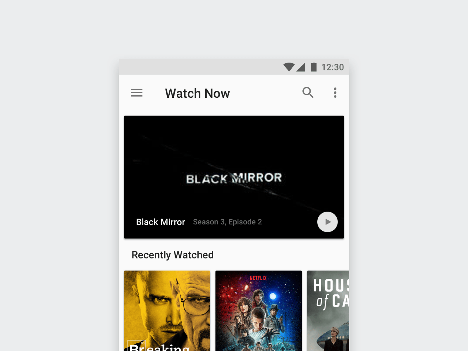Thumbnail of the Android TV App Concept