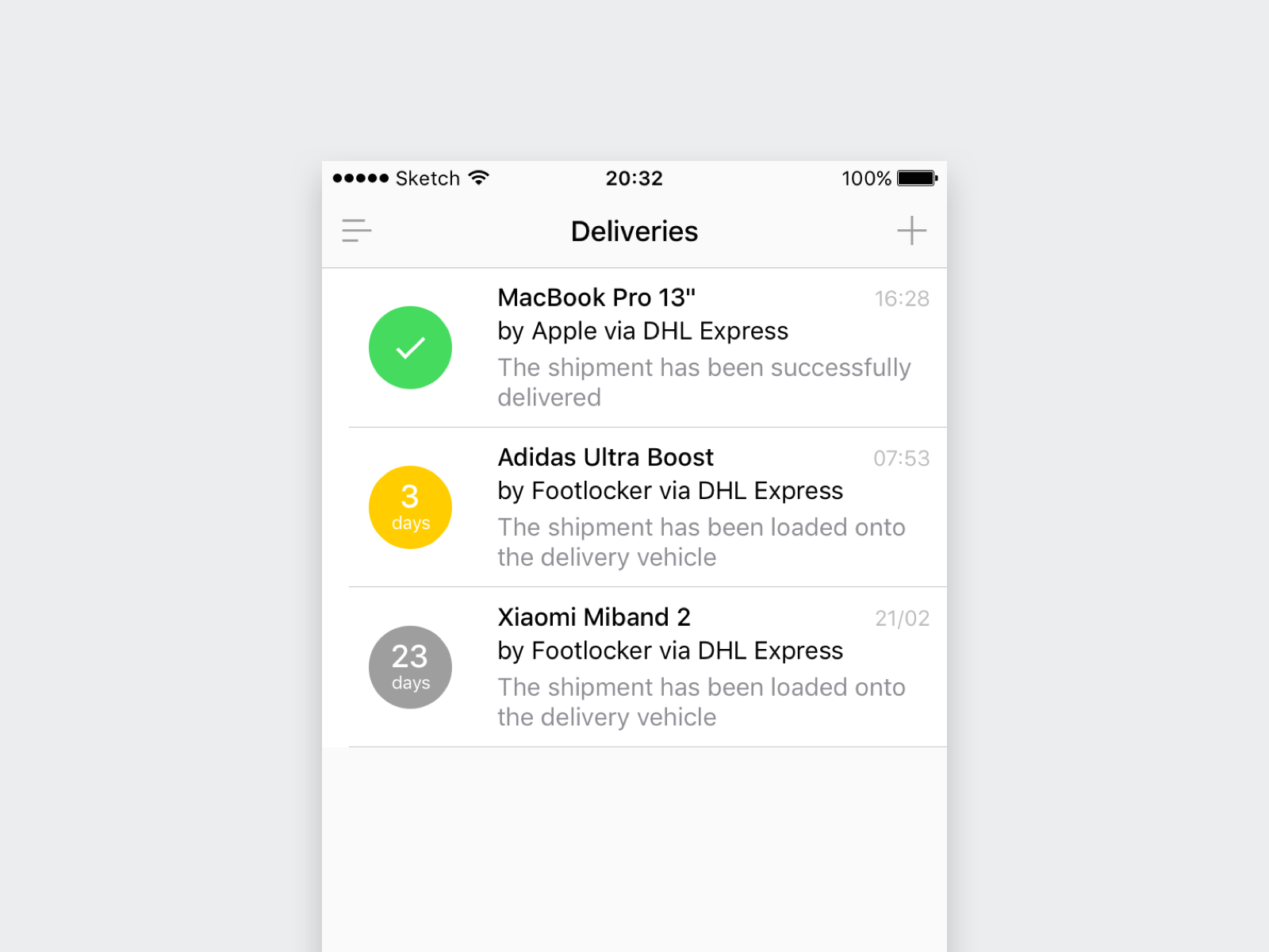 Thumbnail of the Delivery App Concept